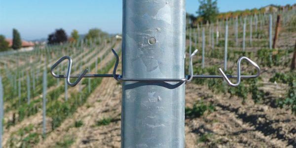 Abstandhalter Inox fest für Pfahl aus Stahl