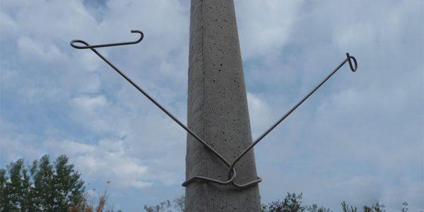 Abstandhalter Inox beweglich für Pfahl aus Beton