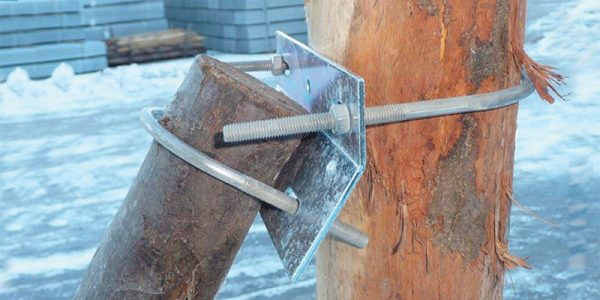 Stainless clamp for wooden pole