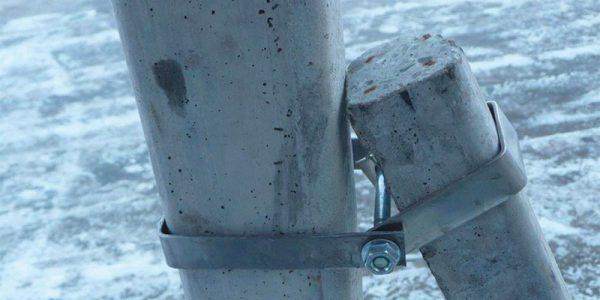 Klammern Gegenpfahl Inox für Pfahl aus Beton